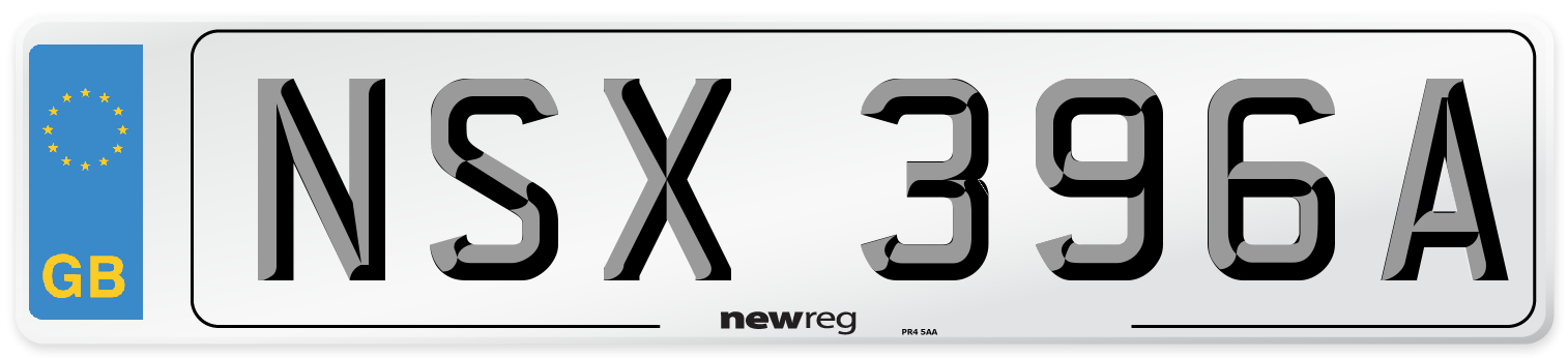 NSX 396A Number Plate from New Reg