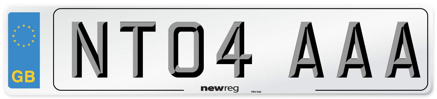 NT04 AAA Number Plate from New Reg
