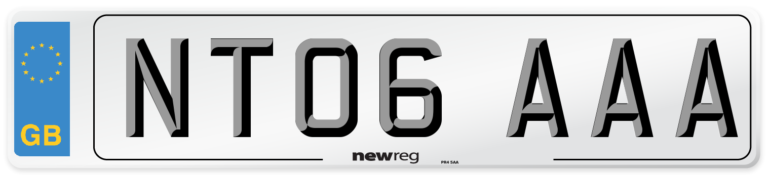 NT06 AAA Number Plate from New Reg