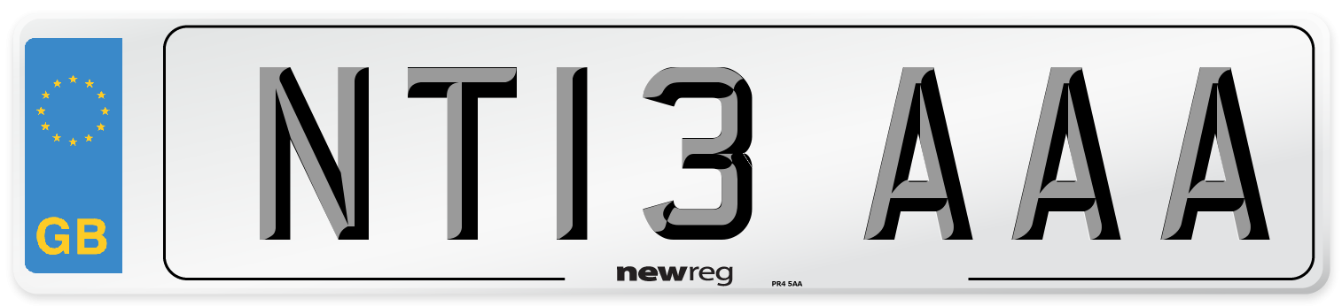NT13 AAA Number Plate from New Reg