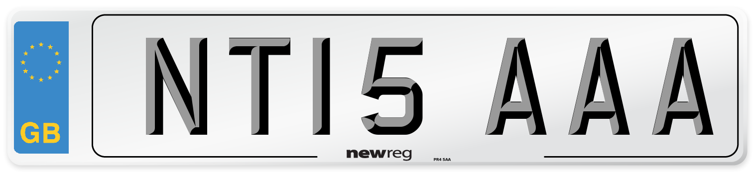 NT15 AAA Number Plate from New Reg