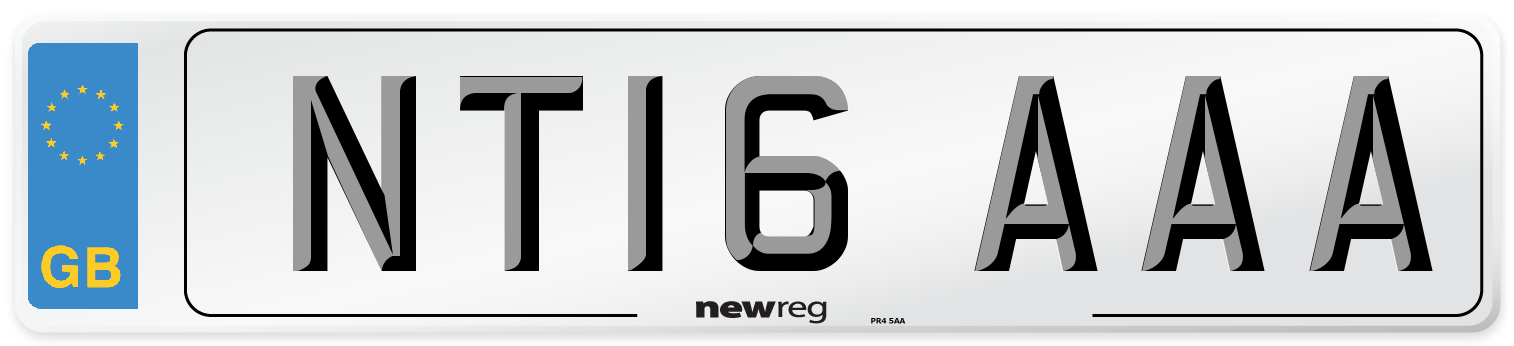 NT16 AAA Number Plate from New Reg