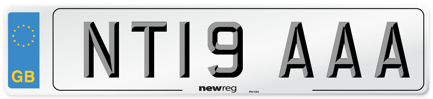 NT19 AAA Number Plate from New Reg