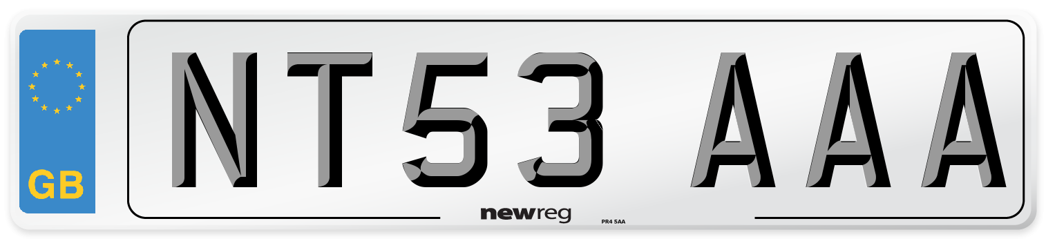 NT53 AAA Number Plate from New Reg