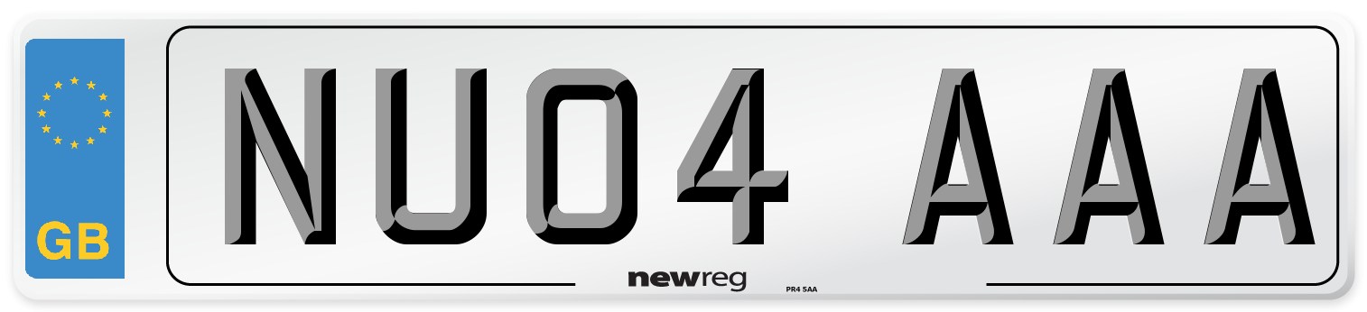 NU04 AAA Number Plate from New Reg