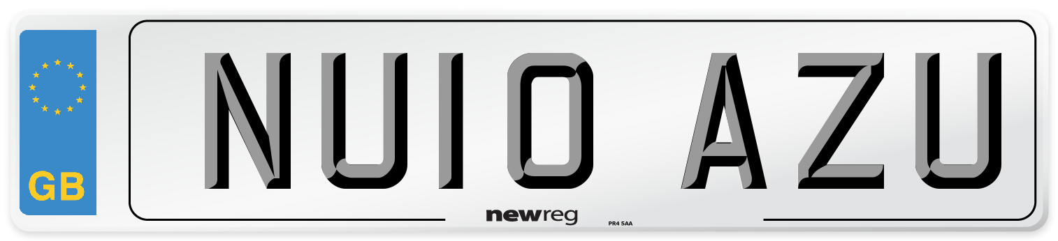 NU10 AZU Number Plate from New Reg