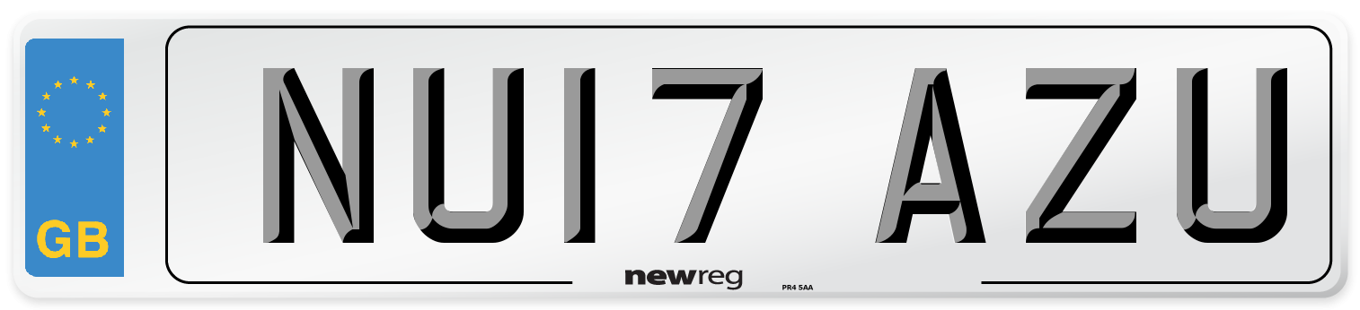 NU17 AZU Number Plate from New Reg