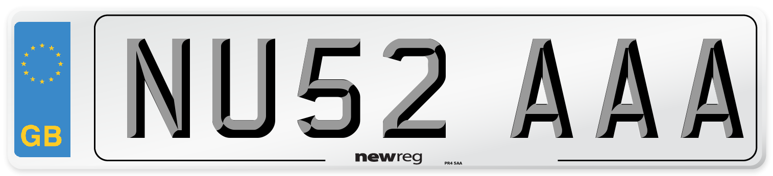 NU52 AAA Number Plate from New Reg