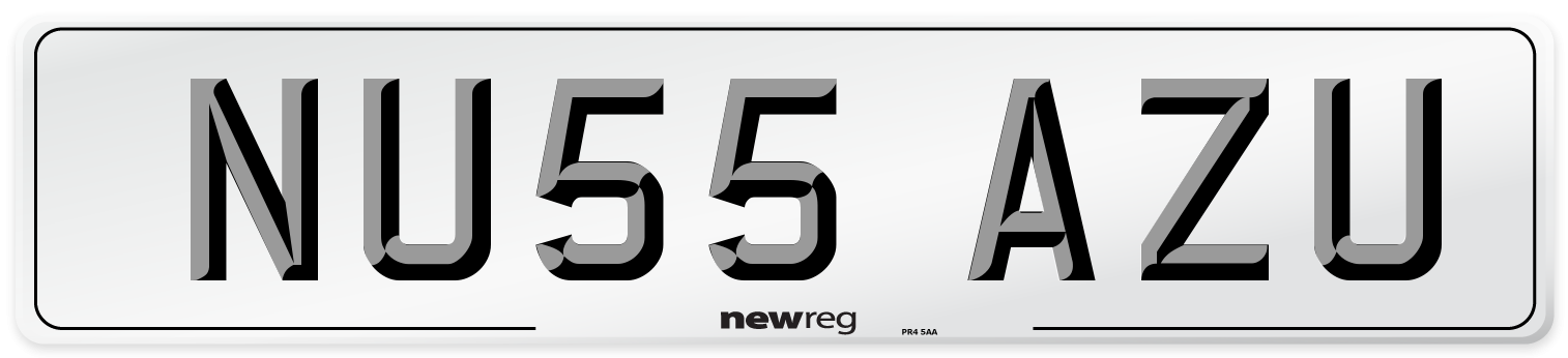 NU55 AZU Number Plate from New Reg