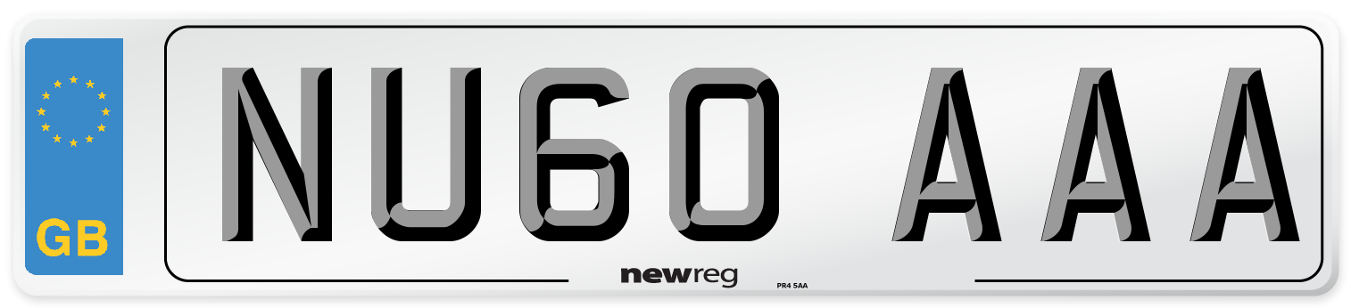 NU60 AAA Number Plate from New Reg