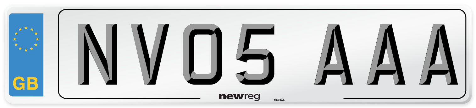 NV05 AAA Number Plate from New Reg