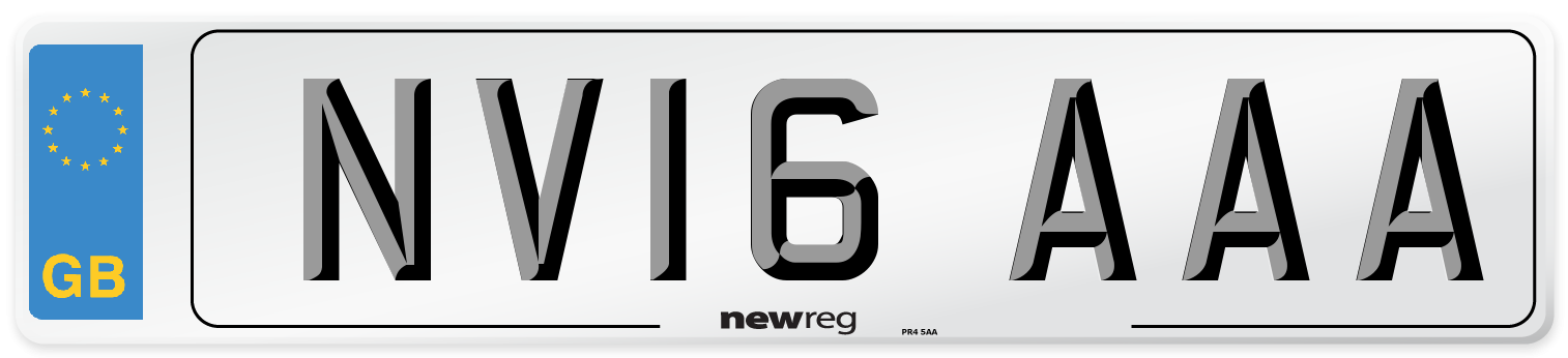 NV16 AAA Number Plate from New Reg