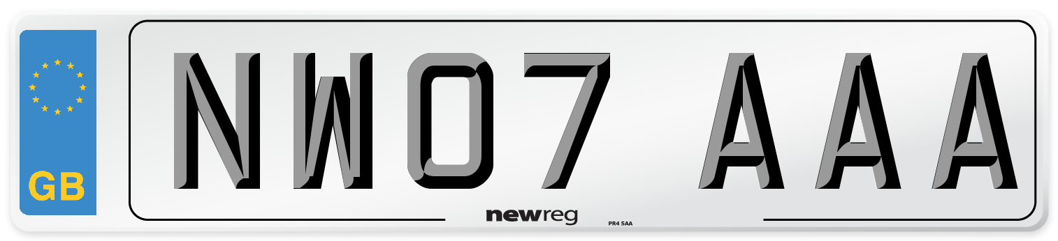 NW07 AAA Number Plate from New Reg