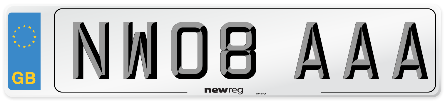 NW08 AAA Number Plate from New Reg
