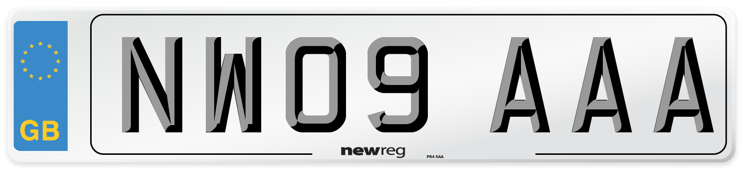 NW09 AAA Number Plate from New Reg