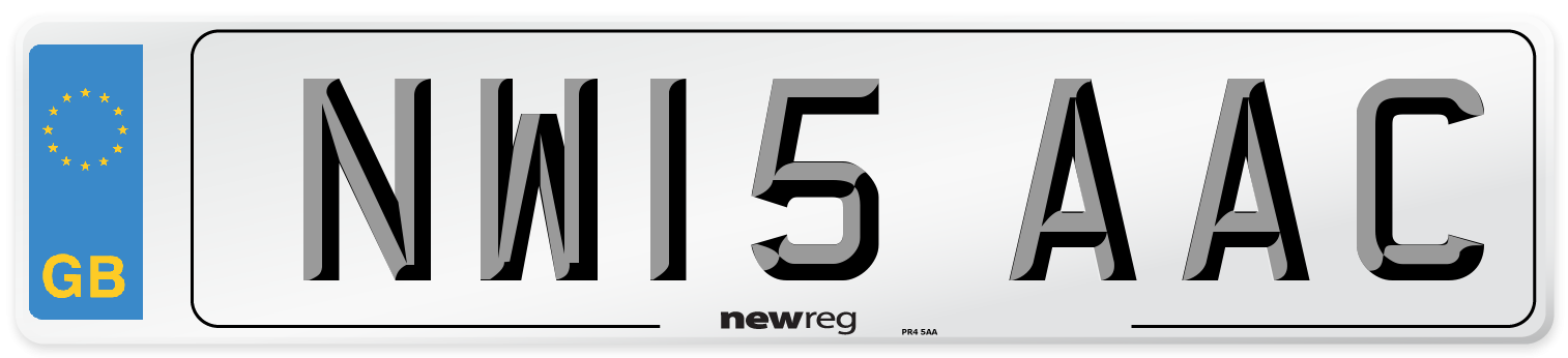 NW15 AAC Number Plate from New Reg