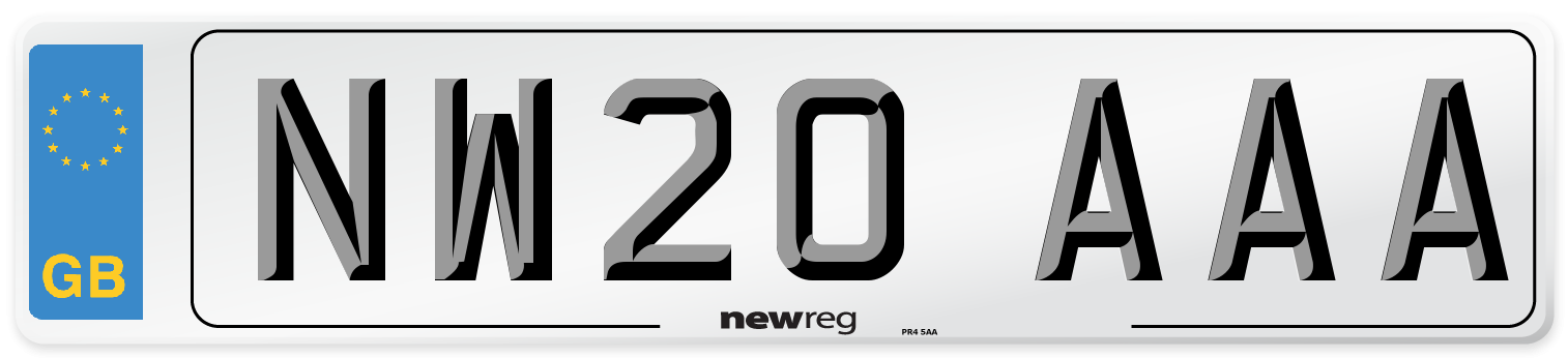 NW20 AAA Number Plate from New Reg