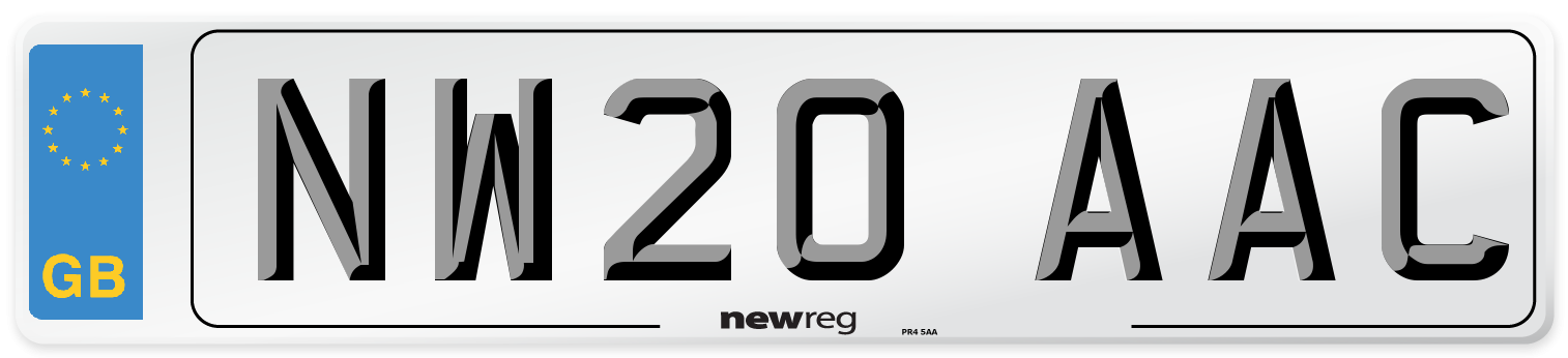 NW20 AAC Number Plate from New Reg