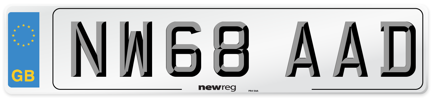 NW68 AAD Number Plate from New Reg