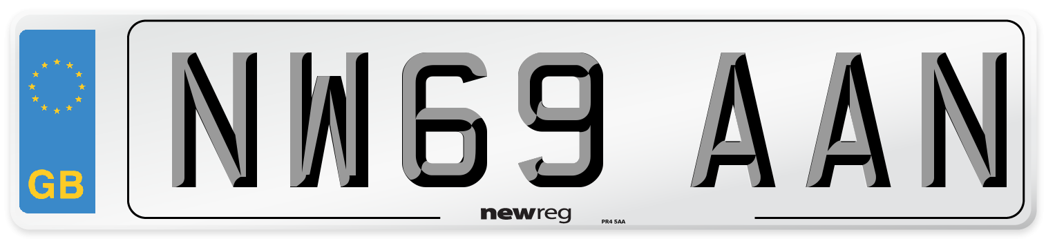 NW69 AAN Number Plate from New Reg