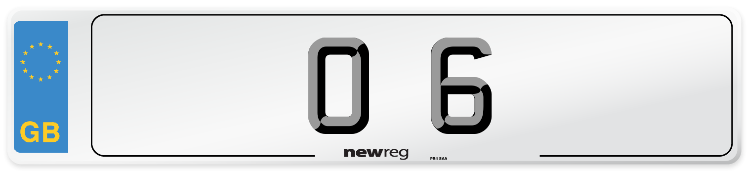 O 6 Number Plate from New Reg