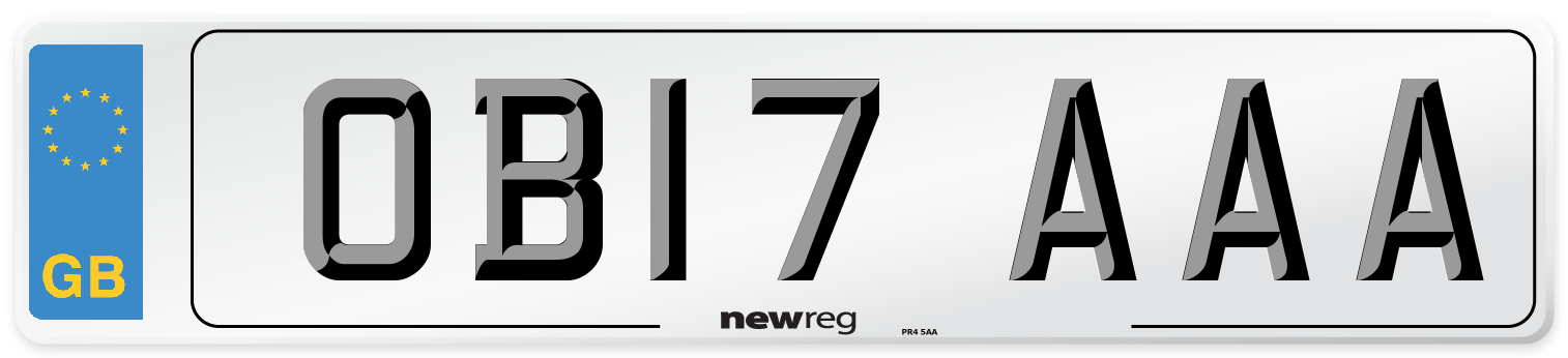 OB17 AAA Number Plate from New Reg