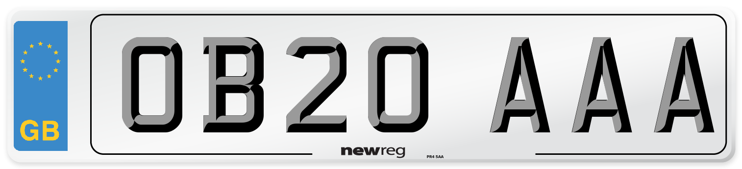 OB20 AAA Number Plate from New Reg