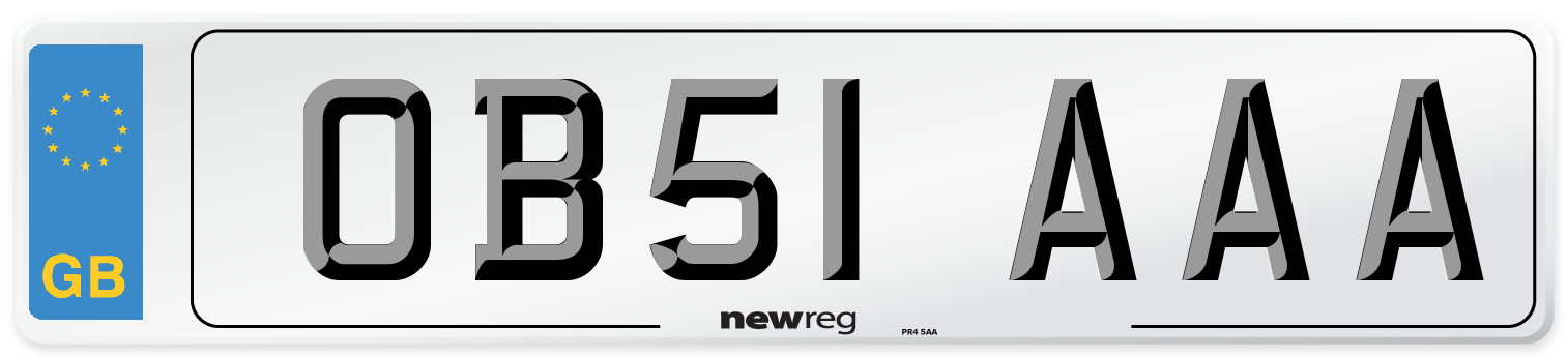 OB51 AAA Number Plate from New Reg