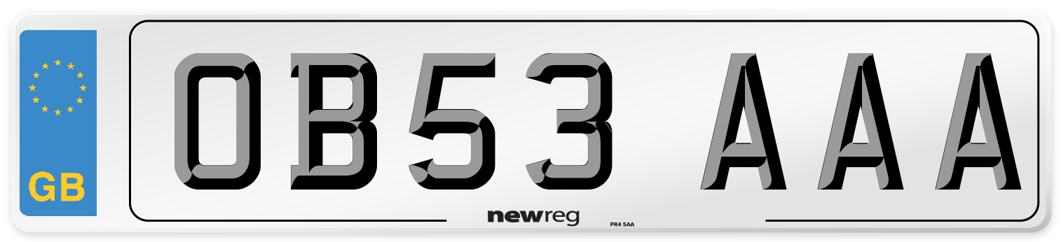 OB53 AAA Number Plate from New Reg