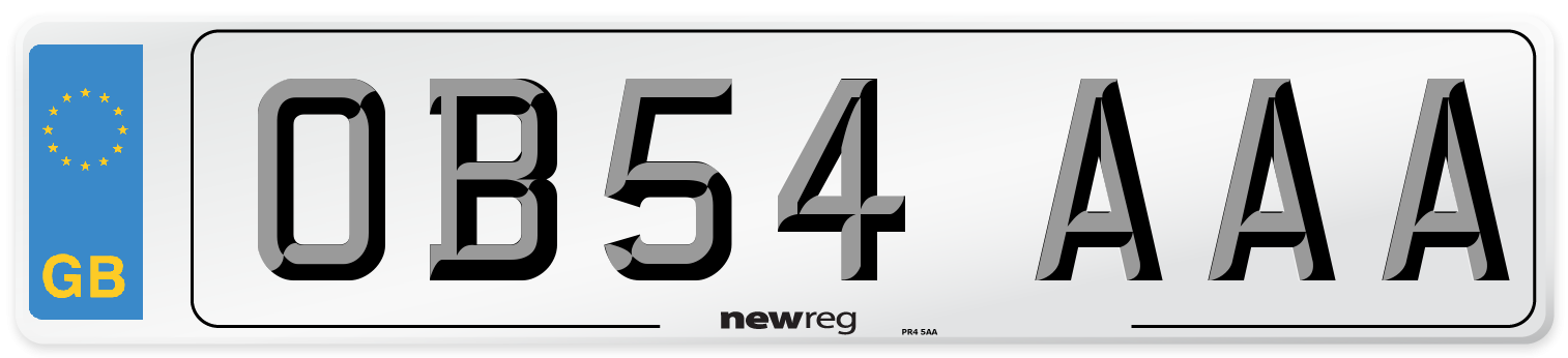 OB54 AAA Number Plate from New Reg