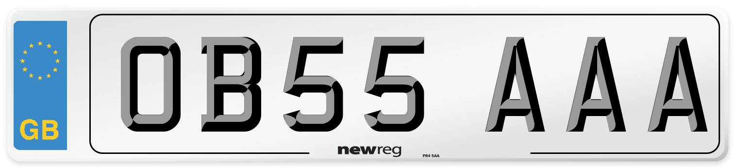 OB55 AAA Number Plate from New Reg