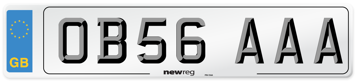 OB56 AAA Number Plate from New Reg