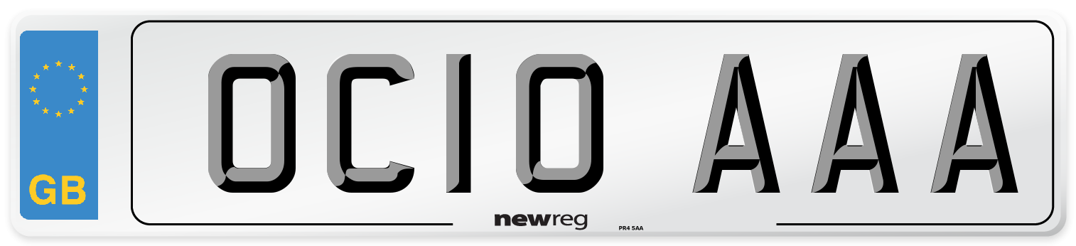 OC10 AAA Number Plate from New Reg