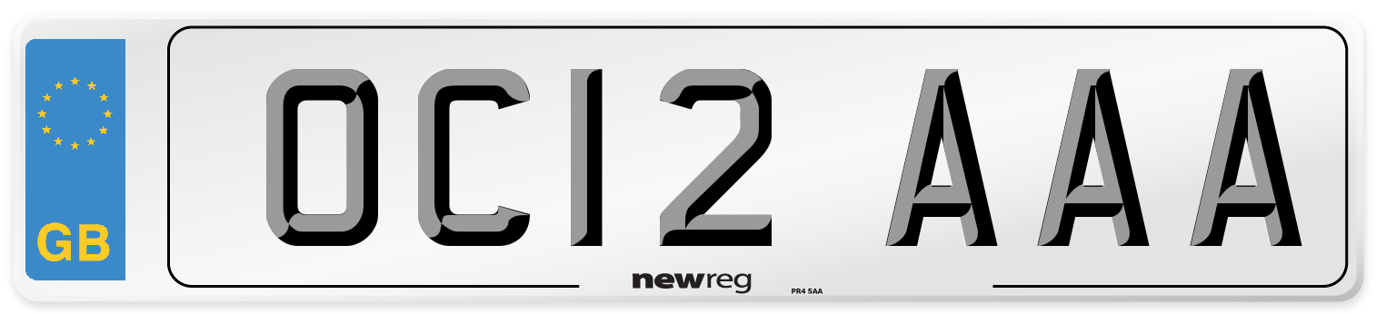 OC12 AAA Number Plate from New Reg