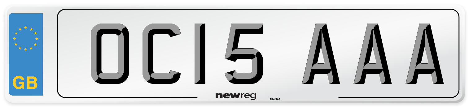 OC15 AAA Number Plate from New Reg