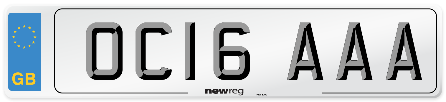 OC16 AAA Number Plate from New Reg