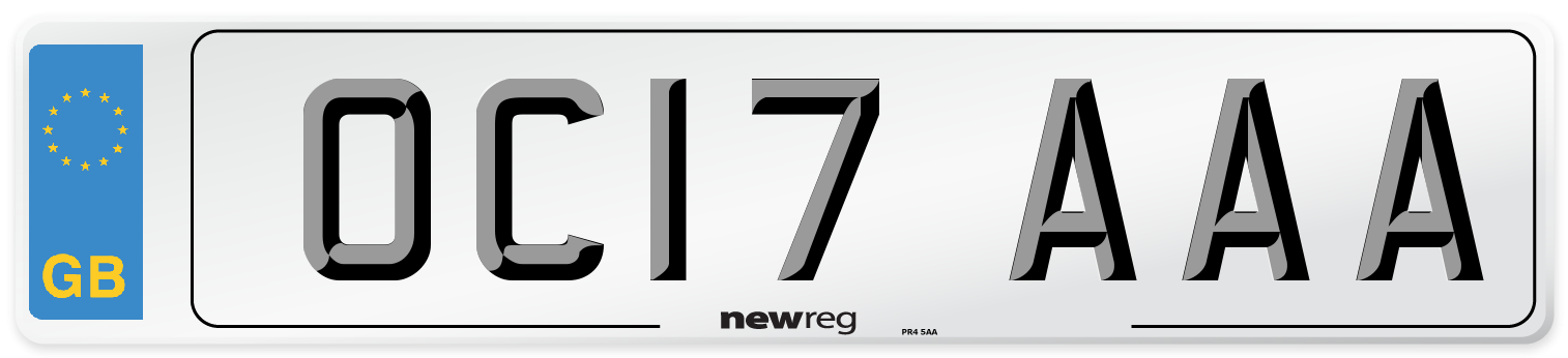 OC17 AAA Number Plate from New Reg