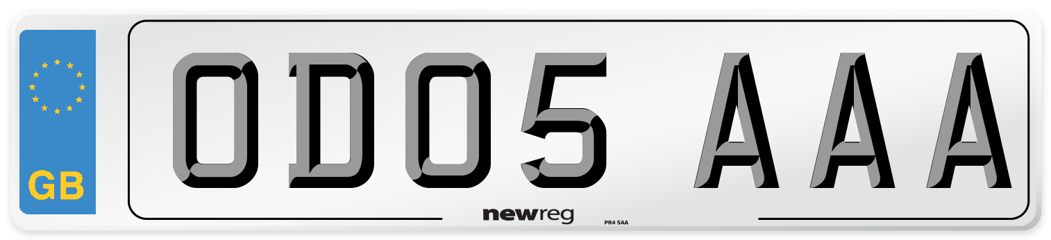 OD05 AAA Number Plate from New Reg