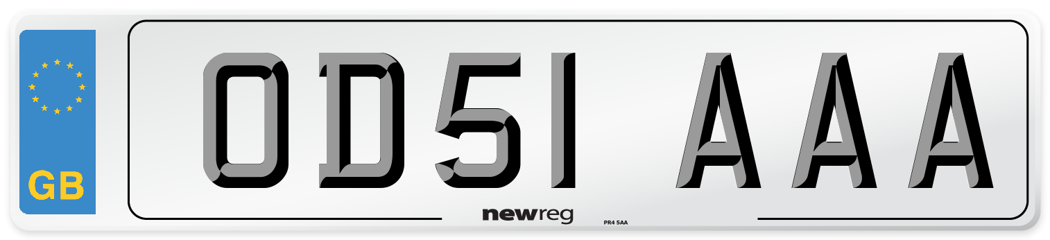 OD51 AAA Number Plate from New Reg