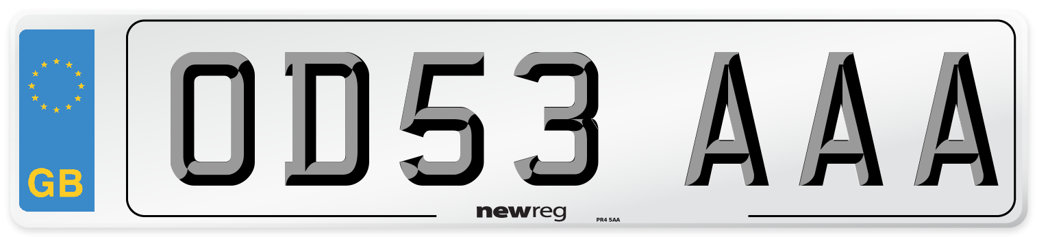 OD53 AAA Number Plate from New Reg