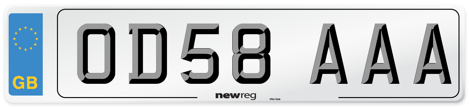 OD58 AAA Number Plate from New Reg