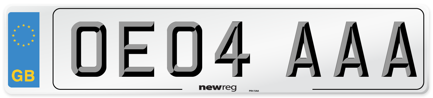 OE04 AAA Number Plate from New Reg