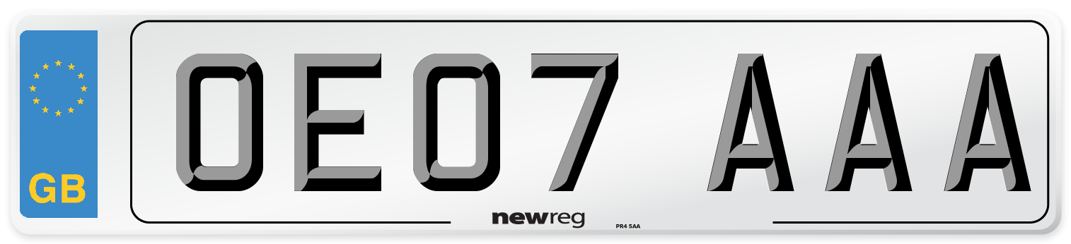 OE07 AAA Number Plate from New Reg
