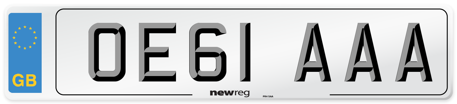 OE61 AAA Number Plate from New Reg