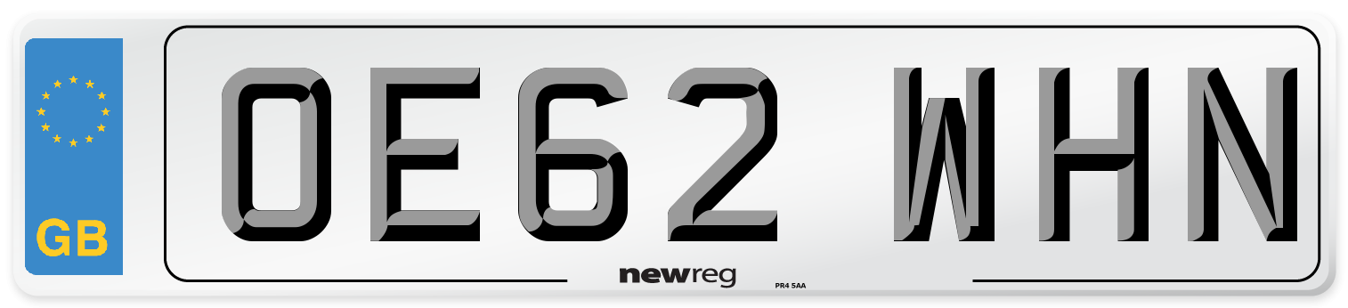 OE62 WHN Number Plate from New Reg