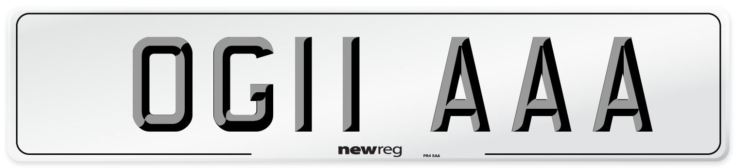 OG11 AAA Number Plate from New Reg