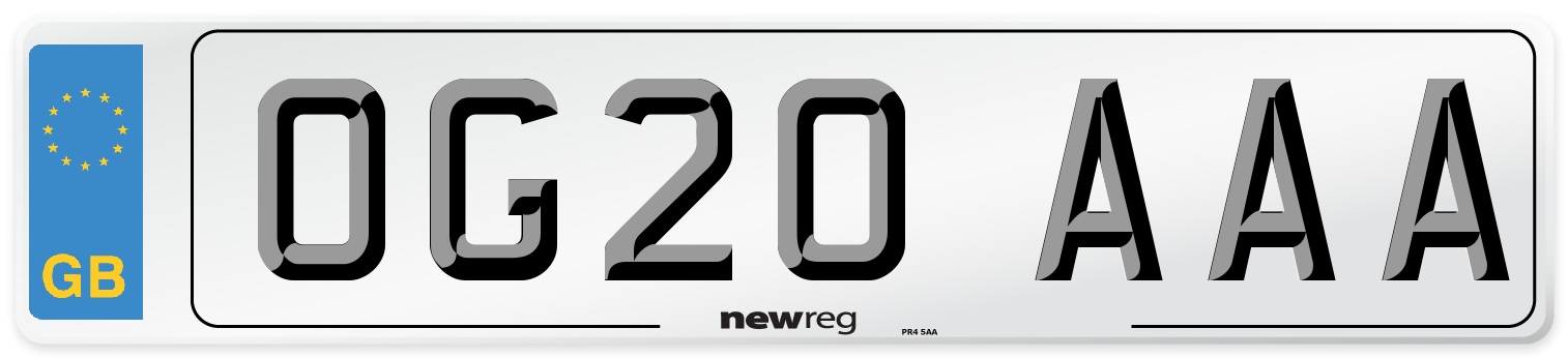 OG20 AAA Number Plate from New Reg
