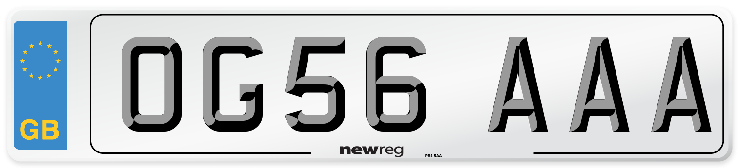 OG56 AAA Number Plate from New Reg
