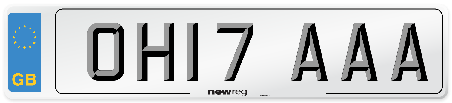 OH17 AAA Number Plate from New Reg