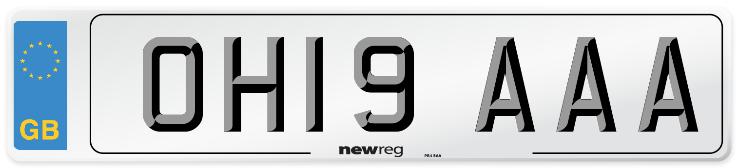OH19 AAA Number Plate from New Reg